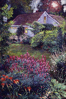 The Summer Evening Cottage by David Lloyd Glover