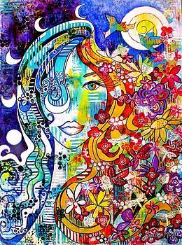 The Sun-Moon Goddess by Julie Hoyle