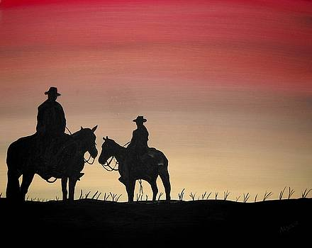 The Sunset Cowboy by Edwin Alverio