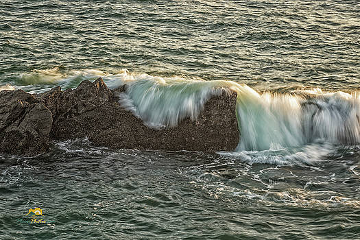 The Surf Spilling Over an Obstical by Jim Thompson