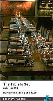The Table Is Set by Max  Greene