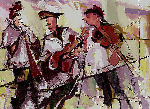 The Three Minstrels - SOLD by Yisa Akinbolaji