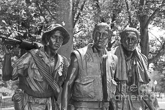 The Three Servicemen by Marcel  J Goetz  Sr
