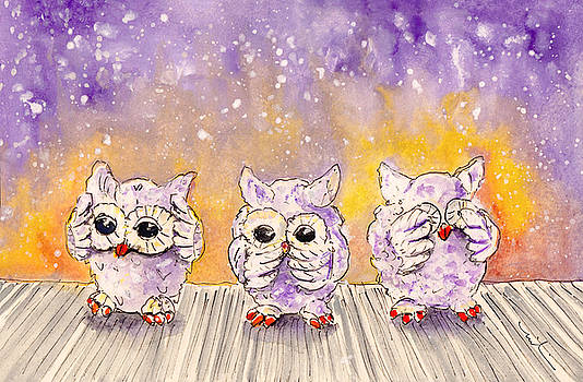 Miki De Goodaboom - The Three Wise Owls From Salobrena