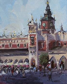 The Town Square, Krakow, Poland by Kristen Olson