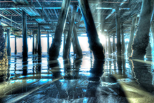 The Underbelly of Santa Monica Pier by Zoe Schumacher