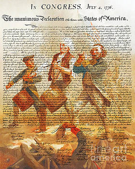 Wingsdomain Art and Photography - The United States Declaration of Independence And The Spirit of 76 20150704v1