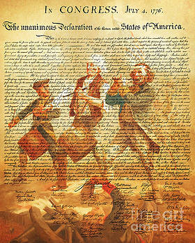 Wingsdomain Art and Photography - The United States Declaration of Independence And The Spirit of 76 20150704v2