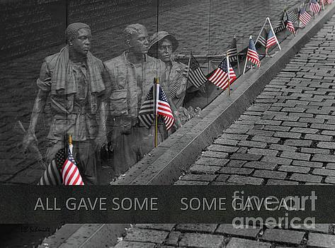 The Vietnam War Memorial by E B Schmidt