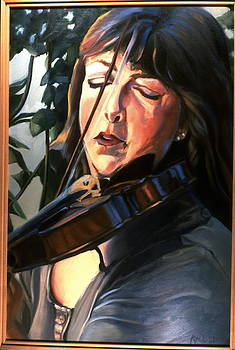 The Violinist-P by Patricia Reed