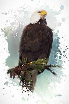 The Warrior - Eagle Art by Jordan Blackstone