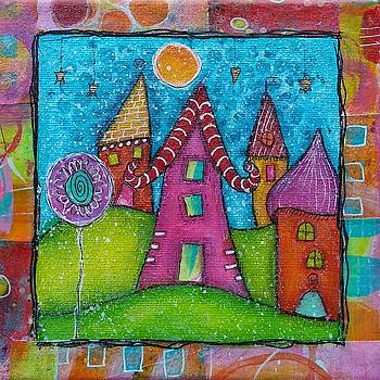 Barbara Orenya - The whimsical village - 1