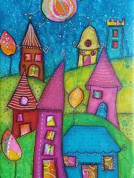 Barbara Orenya - The whimsical village - 2