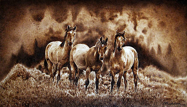 The Wild Trio - on paper by Dino Muradian