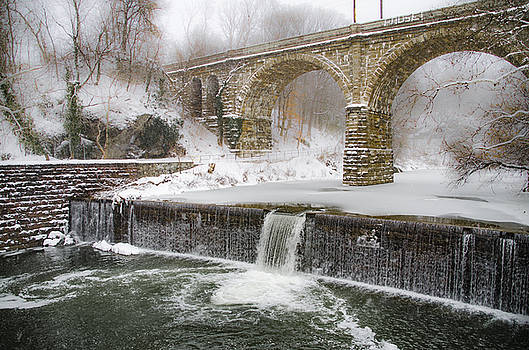 The Wissahickon Creek at Ridge Avenue in the Snow by Bill Cannon
