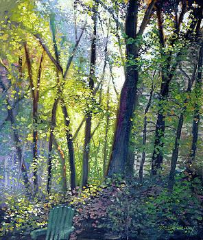 The Yard - Summer Dawn by Gregg Hinlicky