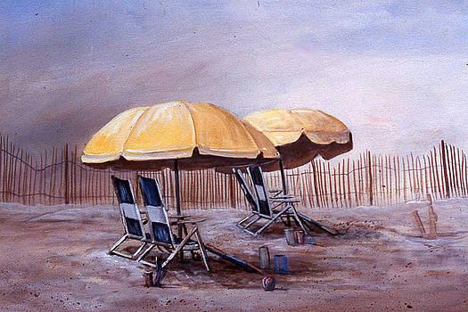 The Yellow Umbrella by Sue Coley
