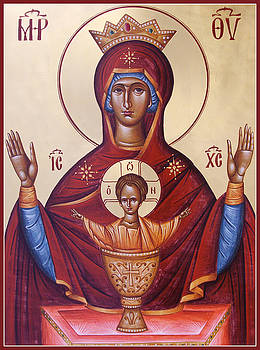 Theotokos the Inexhaustable Cup by Julia Bridget Hayes
