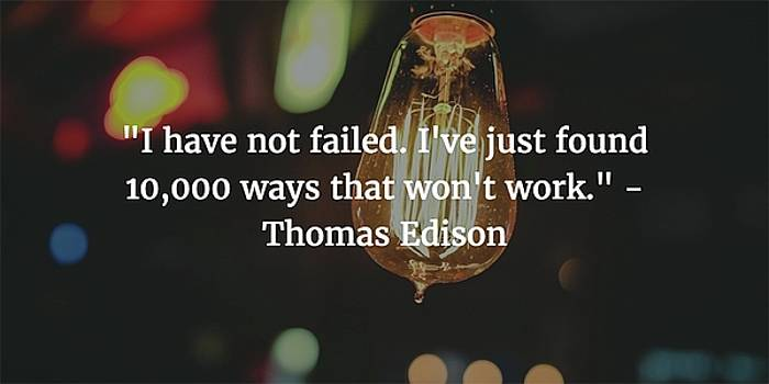 Thomas Edison Quote by Matt Create