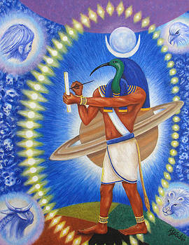 Thoth in the Path of Tav by Rebecca Steelman