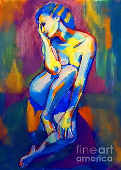 Thoughtful figure by Helena Wierzbicki