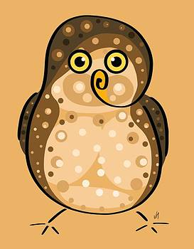 Thoughts and colors series owl by Veronica Minozzi