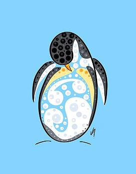 Thoughts and colors series penguin by Veronica Minozzi
