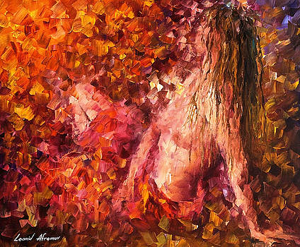 Thoughts Of Pleasure - PALETTE KNIFE Oil Painting On Canvas By Leonid Afremov by Leonid Afremov