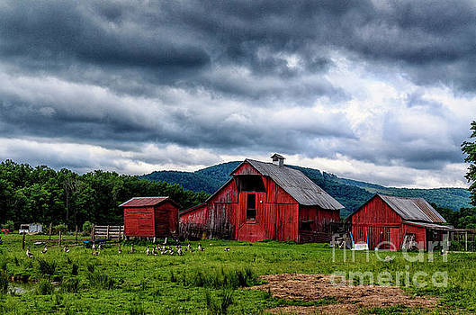 Threatening Sky and Barn by Thomas R Fletcher
