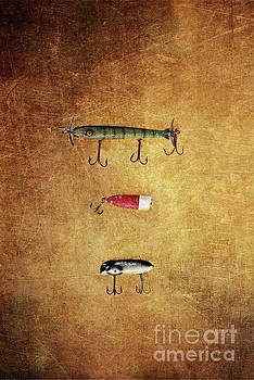 Three Antique Fishing Lure by Stephanie Frey