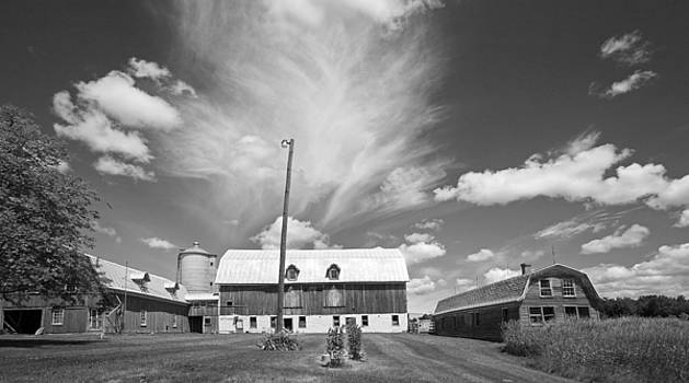 Three Barns with Clouds on Clark Lakes Road by Stephen Mack