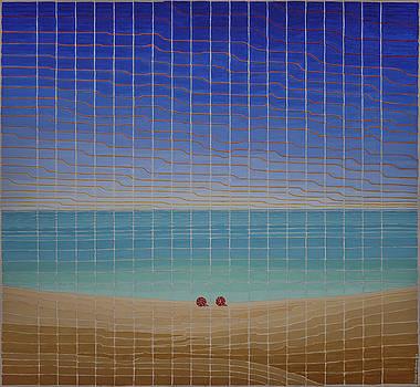 Three Beach Umbrellas by Jesse Jackson Brown