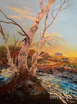 Three Birches by Gail Allen
