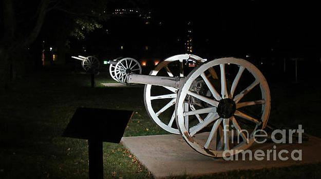 Three Cannons at Night by John Malone