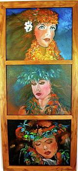 Three Hawaiian Maidens by Jenny Lee
