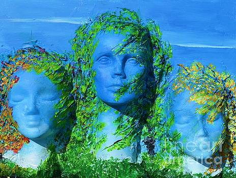 Three Head sisters by P Dwain Morris