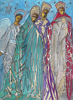 Three Kings and Angel by Mary DuCharme