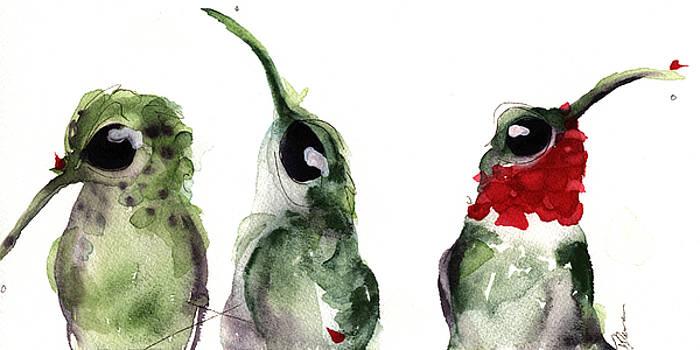 Three Little Hummers by Dawn Derman