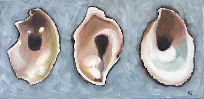 Three Oysters  by Velma Serrano