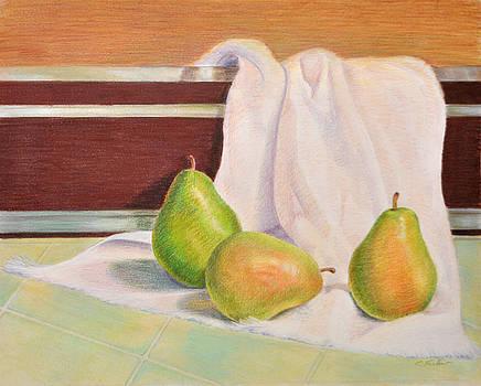 Phyllis Tarlow - Three Pears Food Still Life