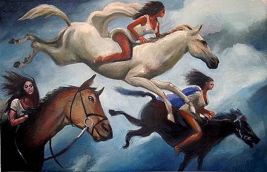 Three Riders by Geoff Greene