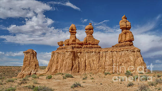 Three Sisters Goblin Valley by Jerry Fornarotto