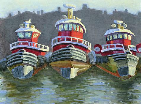 Three Tugs by Mary Byrom