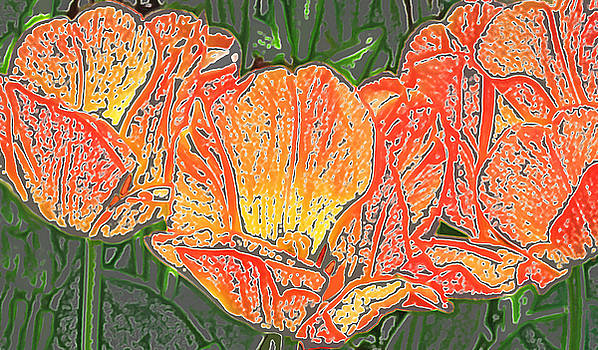 Three Tulips by Donna Haggerty