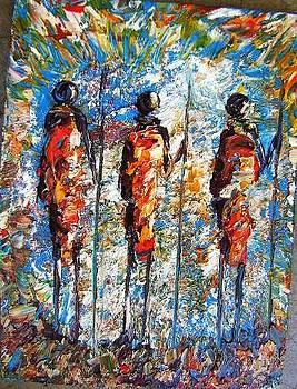 Three Warrious by Joseph Muchina