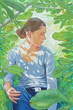 Thro the Chesnut leaves by Tomas OMaoldomhnaigh