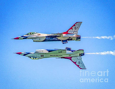 Thunderbirds Reflection Pass by Nick Zelinsky
