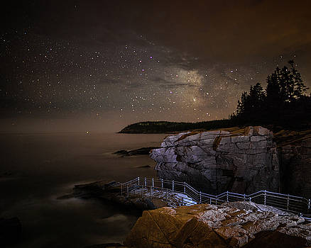 Thunder Hole Under the Stars by Brent L Ander