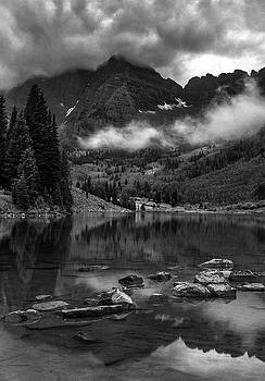Thunder Rolls on the Maroon Bells    by Thomas Schoeller