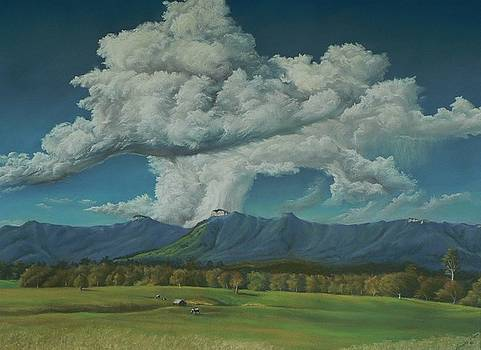 Thunderhead Over Lansdowne by Louise Green